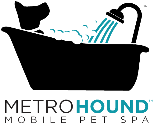Full-sized Logo, MetroHound Spa, mobile pet grooming for dogs and cats